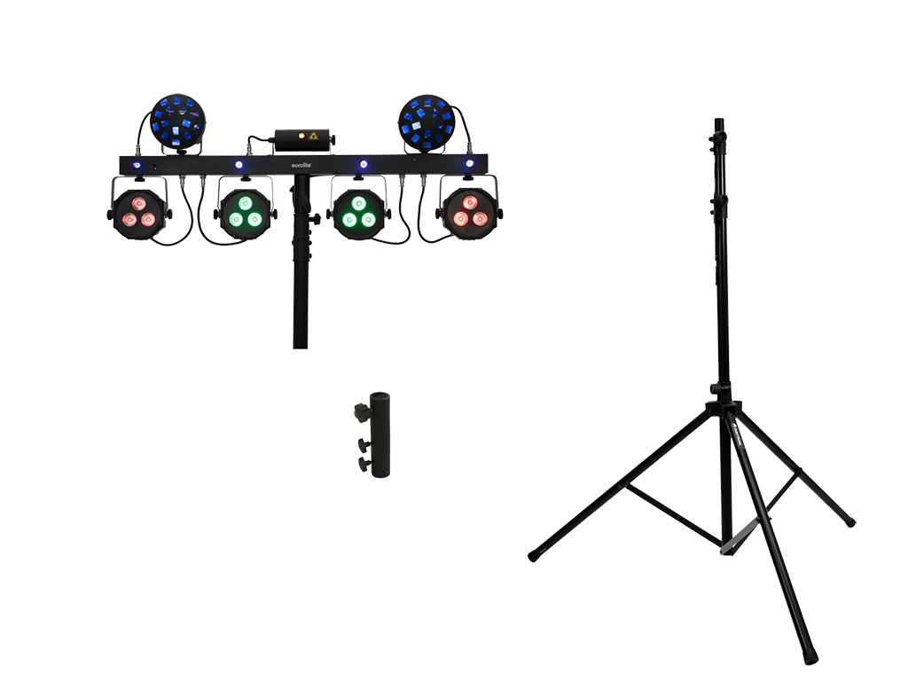 EUROLITE Set LED KLS Laser Bar Next FX Light Set + M-4 Speaker-System Stand