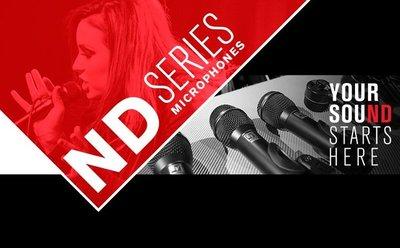 Electro-Voice представила проводные вокальные и инструментальные микрофоны новой серии ND. Восемь новых микрофонов серии ND - четыре вокальных и четыре инструментальных микрофона стали преемниками популярных проводных микрофонов серии N/Dym.