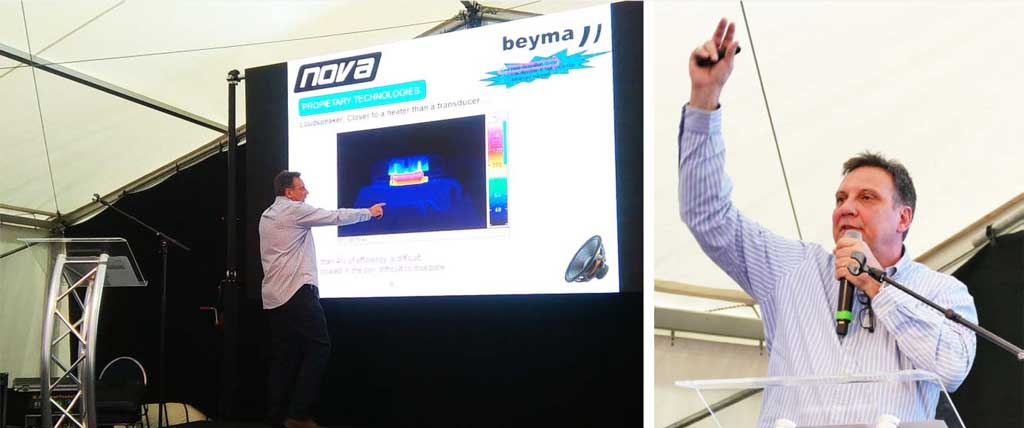 Педро Энгвиданос (Pedro Enguídanos) из Acustica Beyma S.L., Spain представляет новые громкоговорители, которые применяются в новых моделях сабвуферов M318SUB и P18LEX